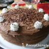 Csokoládé torta háromféle piskótából