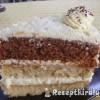 Vaníliás torta háromféle piskótából