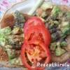 Bruschetta avokádóval paradicsommal és újhagymával