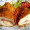 Füstölt sajtos sonkás baconos töltött csirkemell