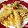 Fűszeres csirkemell csíkok burgonyás bundában