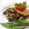 Gombás medvehagymás paradicsomos omlett
