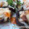 Gombafejek kacsamáj pástétommal reszelt sajttal