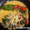Medvehagymás sajtos omlett