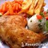 Ropogós majoránnás csirkecomb