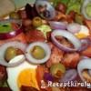 Sült sonkás tojásos saláta
