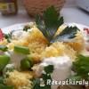 Tejfölös sajtos tészta sült császárszalonnával