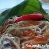 Tejszínes gombás csirkemelles spagetti medvehagymával