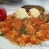 Vörösboros bácskai rizseshús vegyes savanyúsággal