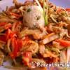 Zöldséges csirkemell csíkok