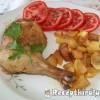 Csirkecomb és krumpli együttsütve