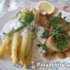 Fehérspárga fehérboros kapros szósszal petrezselymes krumplival