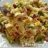 Kelkáposztás baconös sajtos tészta