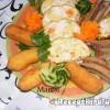 Őzgerincben sült baconos csirkemell
