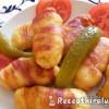 Burgonyás tészta baconszalonnában sütve