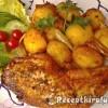 Fűszeres csirkecombok vele sült burgonyával