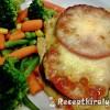 Padlizsános paradicsomos csirkemell mozzarellával sütve
