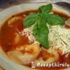 Peperonata levesesen gombás tortellinivel