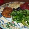 Rántott sertéscomb vajas krumplipürével