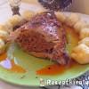 Sertésdagadó kolbászhússal töltve