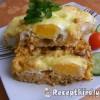 Sajtos rizses hús sütőben sütve
