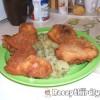Rántott csirke kukoricás panírban
