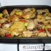Zöldségágyon sült csirke