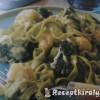 Spenótos tészta brokkolival karfiollal és kék sajttal