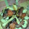 Sertéscsülök pékné módra füstölt szalonnával