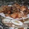 Almás áfonyás sült csirkecomb