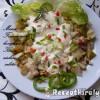 Körtés csirkemell saláta