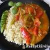 Zöldséges tarja rizzsel