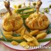 Burgonya pürével sonkával töltött csirke combos batyu