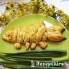 Halacska csirkemájjal, zöldhagymaszárral töltve