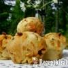Cheddar sajtos kolbászos puffancs