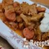 Almás savanyú káposztás serpenyős csirke