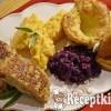 Almás zsályás pulykatallér és Yorkshire puding