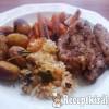 Kacsamell vele sült újkrumplival és répával, párolt rizzsel