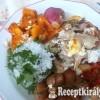 Rakott csirkemell sült zöldségekkel