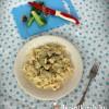 Harcsa tejszínes szószban metélt tésztával