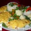 Sajtos, tejfölös csirkemell zöldségekkel, rizzsel