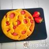 Vaníliás epres süti
