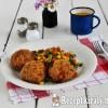 Csirkemell fasírt párolt zöldséggel