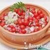 Koktélparadicsom saláta, újhagymával