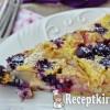 Áfonyás körtés palacsinta pite - paleo