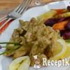 Pestókrémes csirkemell, fokhagymás pirított édesburgonyával - paleo
