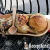 Grillezett csirkecomb juhtúróval töltve