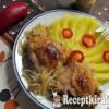 Csirkecombok káposzta ágyon