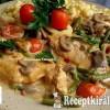 Tejszínes, gombás, zöldbabos csirkemell