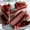 Tejszínes, meggyjoghurtos torta